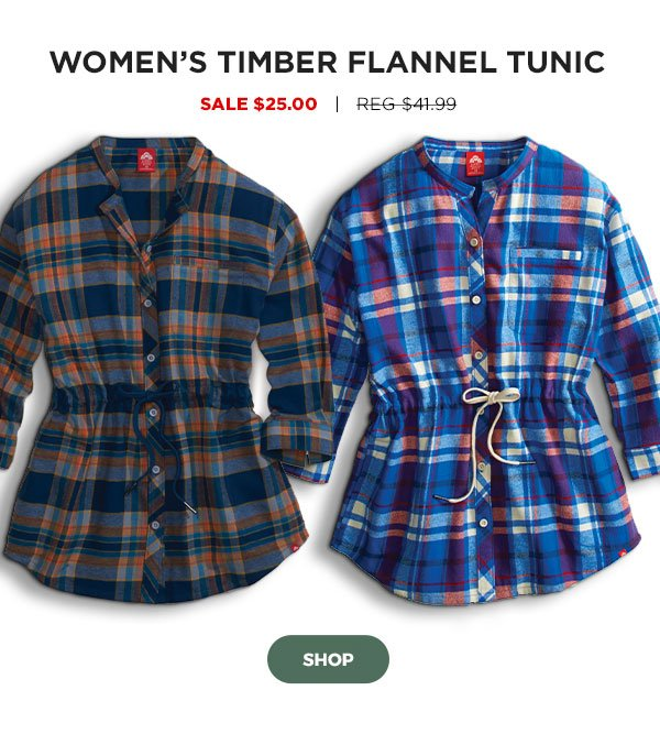Women's Timber Flannel Tunic - Click to Shop