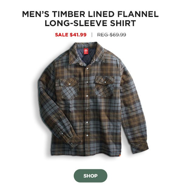 Men's Timber Lined Flannel Long-Sleeve Shirt - Click to Shop