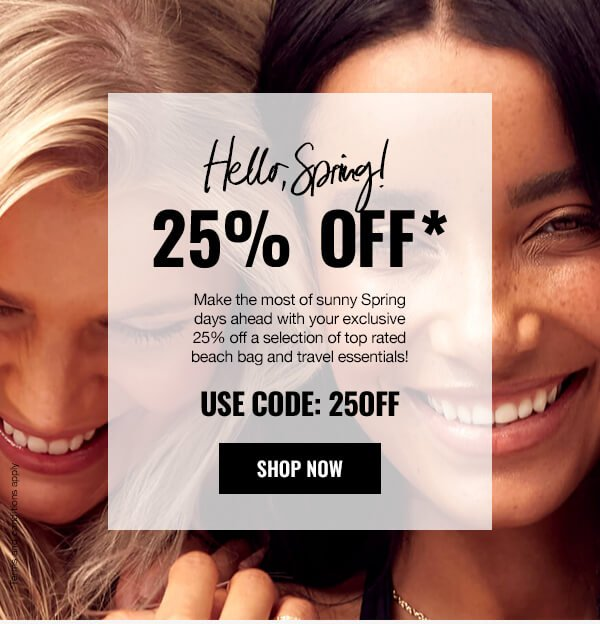 Spring Exclusive 25% Off