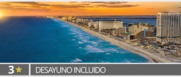 4D/3N Vuelo+Hotel 3* a Cancún