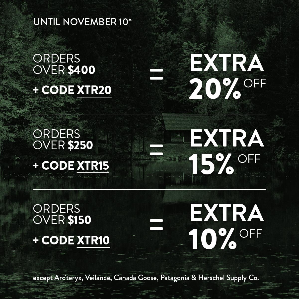 SAVE up to an extra 20% off!