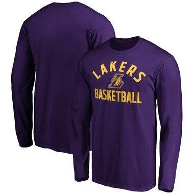 Men's Fanatics Branded Purple Los Angeles Lakers Team Pride Long Sleeve T-Shirt