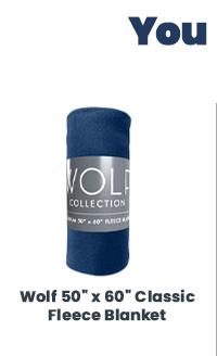 "Shop All Wolf 50"" x 60"" Classic Fleece Blanket"