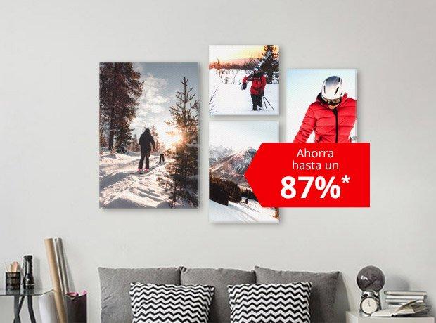 Ahorra hasta un 87%* en Foto Lienzos