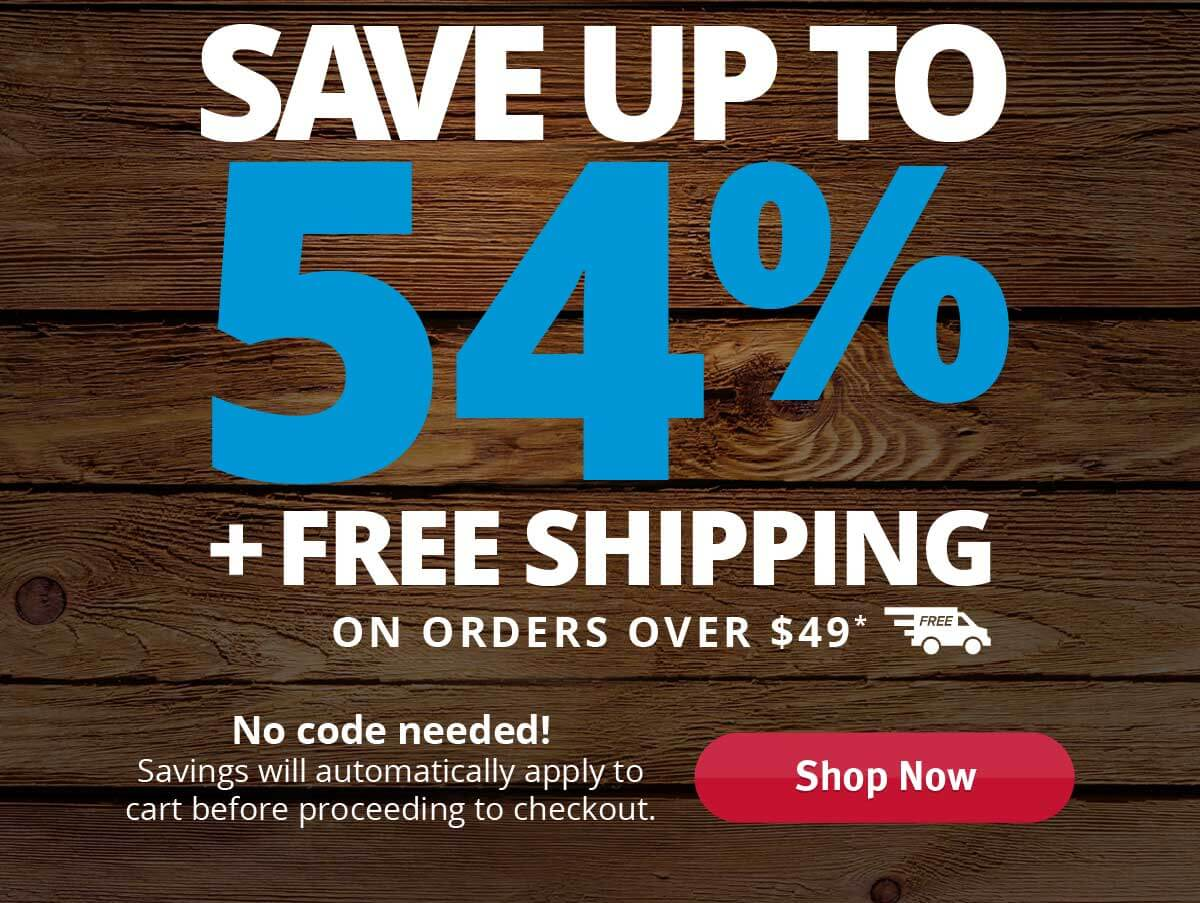 Save up to 54% - All orders. No minimum!