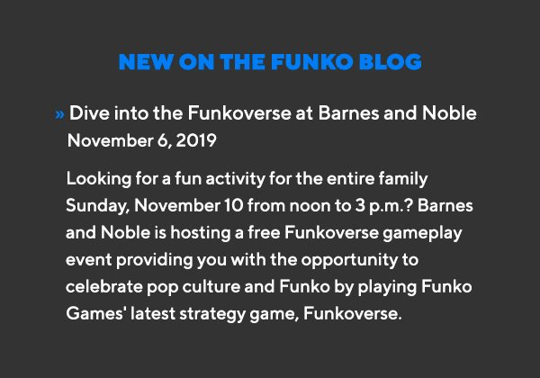 Dive into the Funkoverse at Barnes and Noble