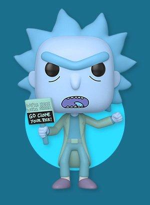 Pop! Animation: Rick and Morty - Hologram Rick Protestor