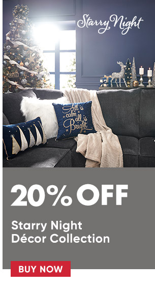 20% off Starry Night decor collection