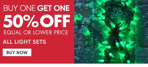 All light sets, Buy one get one 50% off