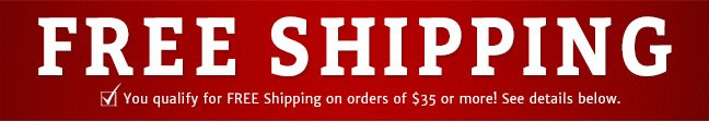 Free Shipping on orders of $35 Or more!