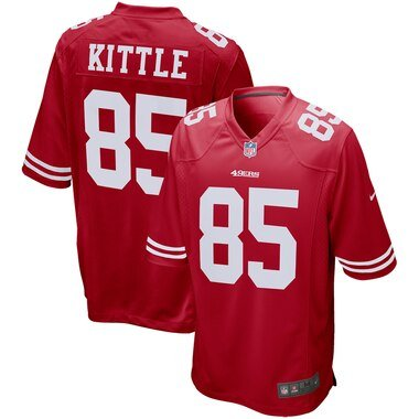 Nike George Kittle San Francisco 49ers Scarlet Game Jersey
