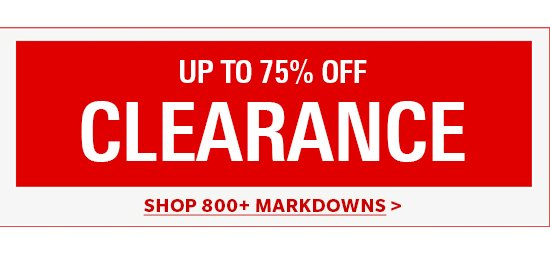 Shop 800+ Markdowns
