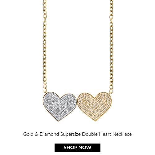 Supersize Double Heart necklace