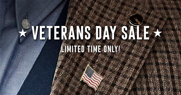 VETERANS DAY SALE | LIMITED TIME ONLY!