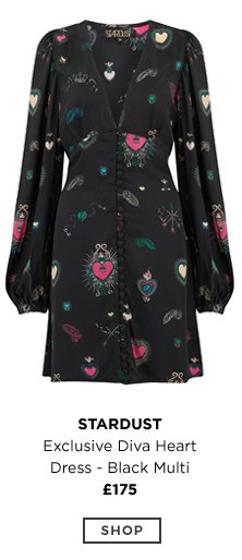 STARDUST Exclusive Diva Heart Dress - Black Multi