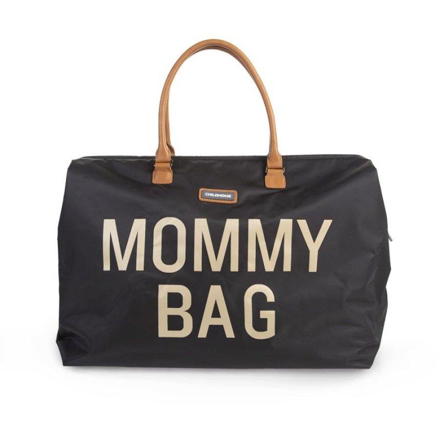 CHILDHOME Mommy Bag Groß Black Gold