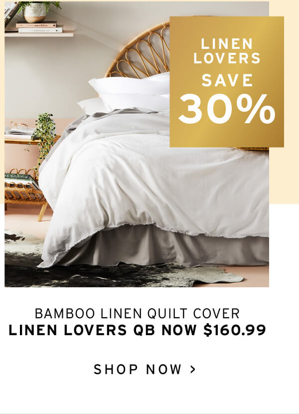 Bamboo Linen White Quilt Cover