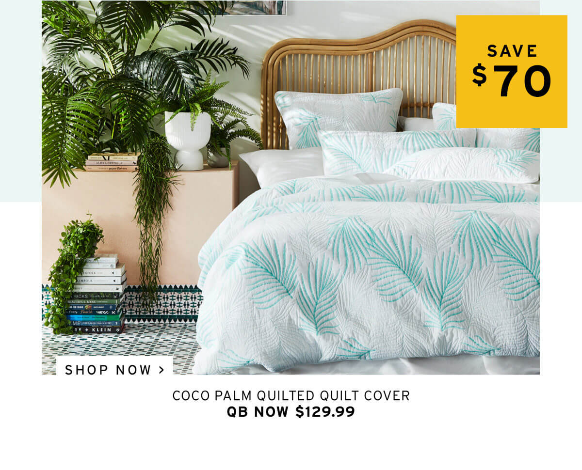 Coco Palm Leaf Quilted Quilt Cover