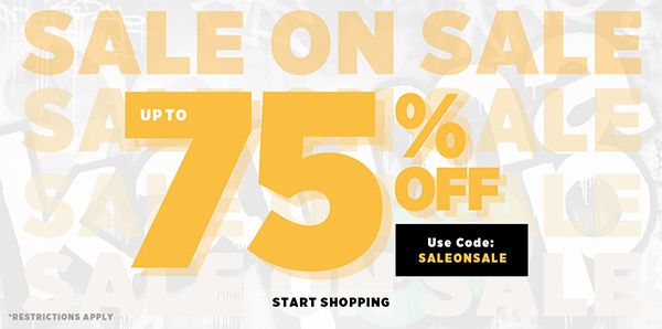 Sale On Sale! Up To 75% OFF With Code: SALEONSALE