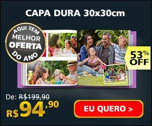 Fotolivro Capa Dura 30x30cm