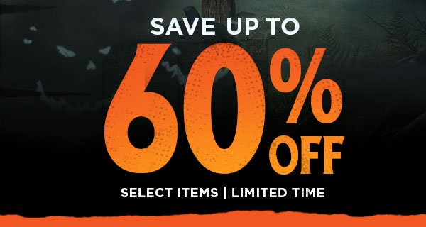 save up to 60% off select items