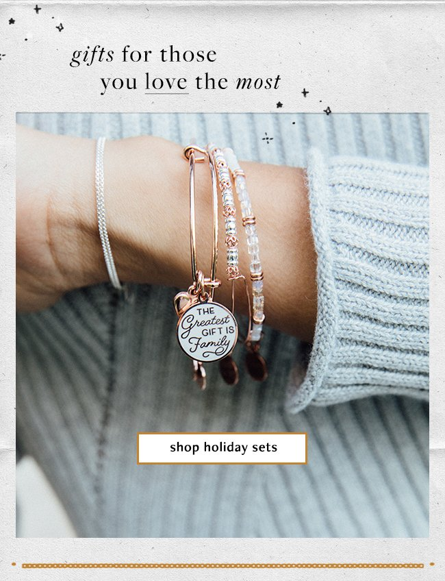 Meaningful gifts for those you love the most. Shop Holiday Sets.