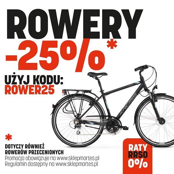 Wszystkie rowery -25% taniej z kodem