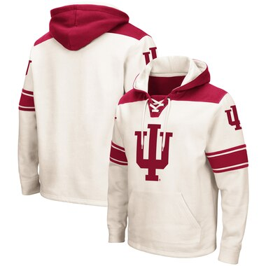 Indiana Hoosiers Colosseum 2.0 Lace-Up Pullover Hoodie - Cream