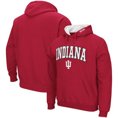 Indiana Hoosiers Colosseum Arch & Logo Pullover Hoodie - Crimson