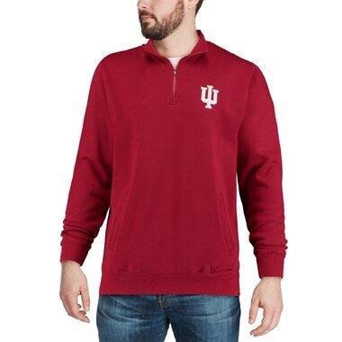 Colosseum Indiana Hoosiers Crimson Team Logo Quarter-Zip Pullover Jacket