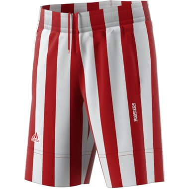 Indiana Hoosiers adidas Candy Striped Shorts - Crimson/White