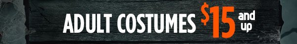 adult costumes $15 and up