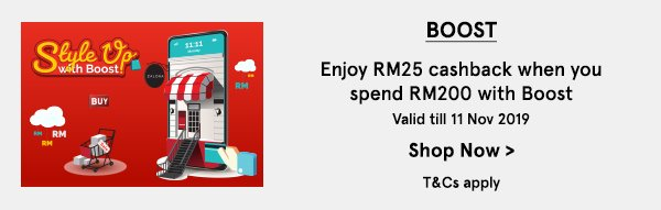 Enjoy RM25 Cashback With Boost