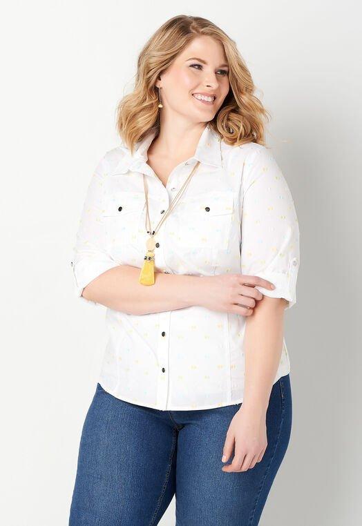Clip Dot Plus Size Essential Shirt