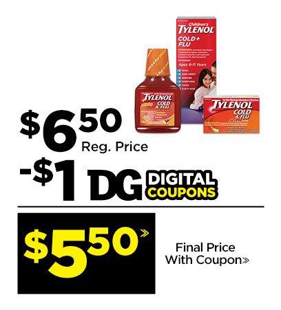 $5.50» Tylenol7reg; Cold & Flu