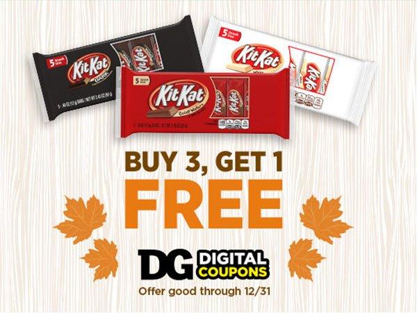 Buy 3, Get 1 Free Hershey's® Good Through 12/31