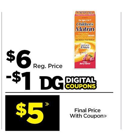 $5» Children's Motrin®