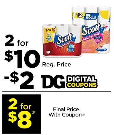 2 for $8» Scott®