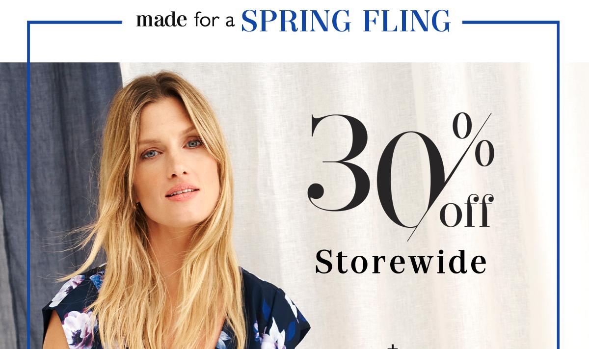 30% Off Storewide.