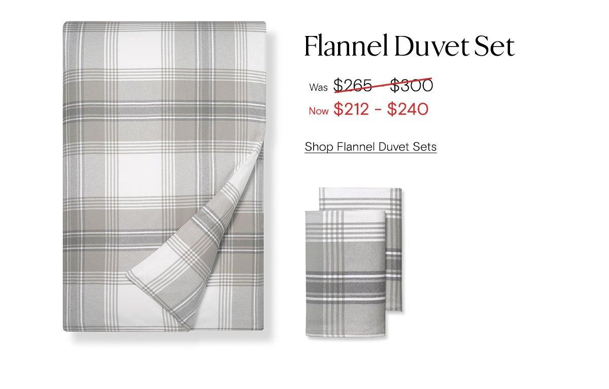 Flannel Duvet Set. Was $265-$300, now $212-$240. Shop Flannel Duvet Sets.