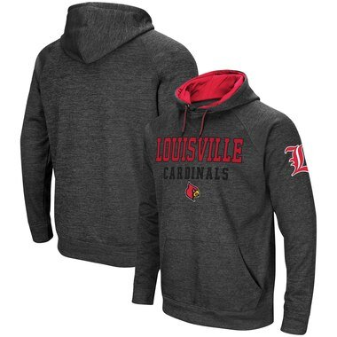 Louisville Cardinals Colosseum Performance Pullover Hoodie - Charcoal