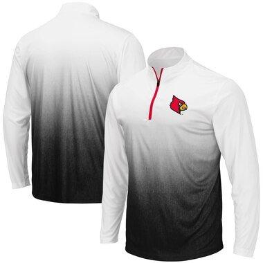 Colosseum Louisville Cardinals Gray Magic Team Logo Quarter-Zip Jacket