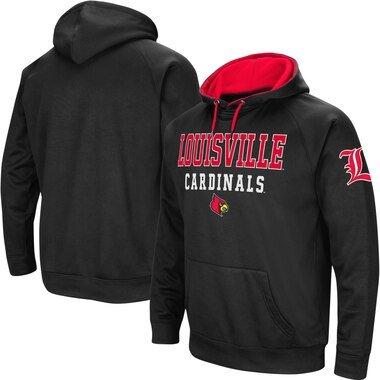Louisville Cardinals Colosseum Performance Pullover Hoodie - Black