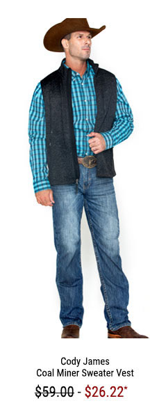 Cody James Men's Coal Minder Sweater Vest