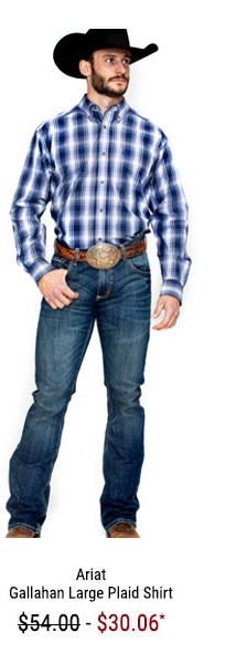 Ariat Men's Gallahan Large Plaid Long Sleeve Western Shirt