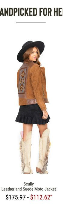 Scully Women's Leather and Suede Moto Jacket