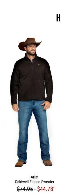 Ariat Men's Caldwell 1/4 Zip Fleece Sweater Jacket