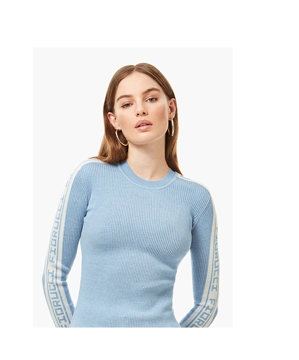 Angels Sweatshirt Pale Blue