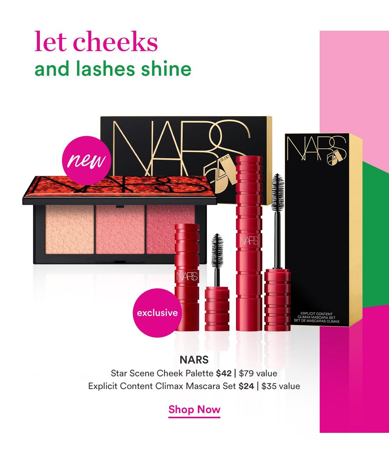 NARS | Star Scene Cheek Palette $42 | $79 Value | Explicit Content Climax Mascara Set $24 | $35 Value