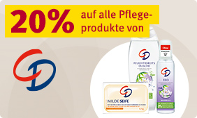 20% Rabatt auf alle Pflegeprodukte von CD